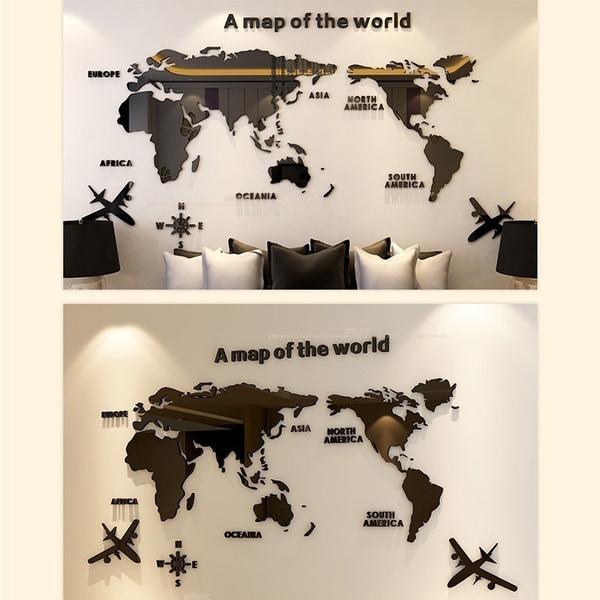 adesivi murali mappamondo