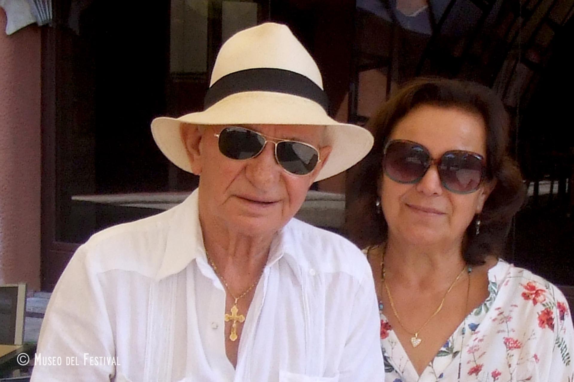 Agnese Girardello e il marito