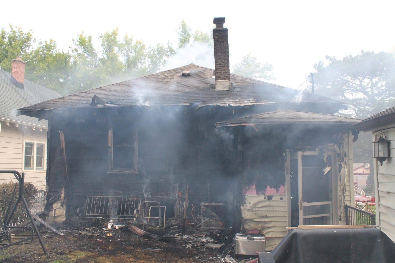 Incendio all'interno dell'abitazione