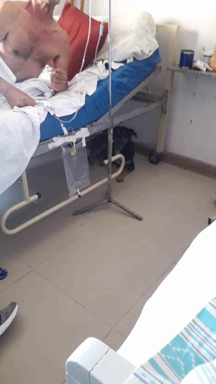 Uomo ricoverato in ospedale