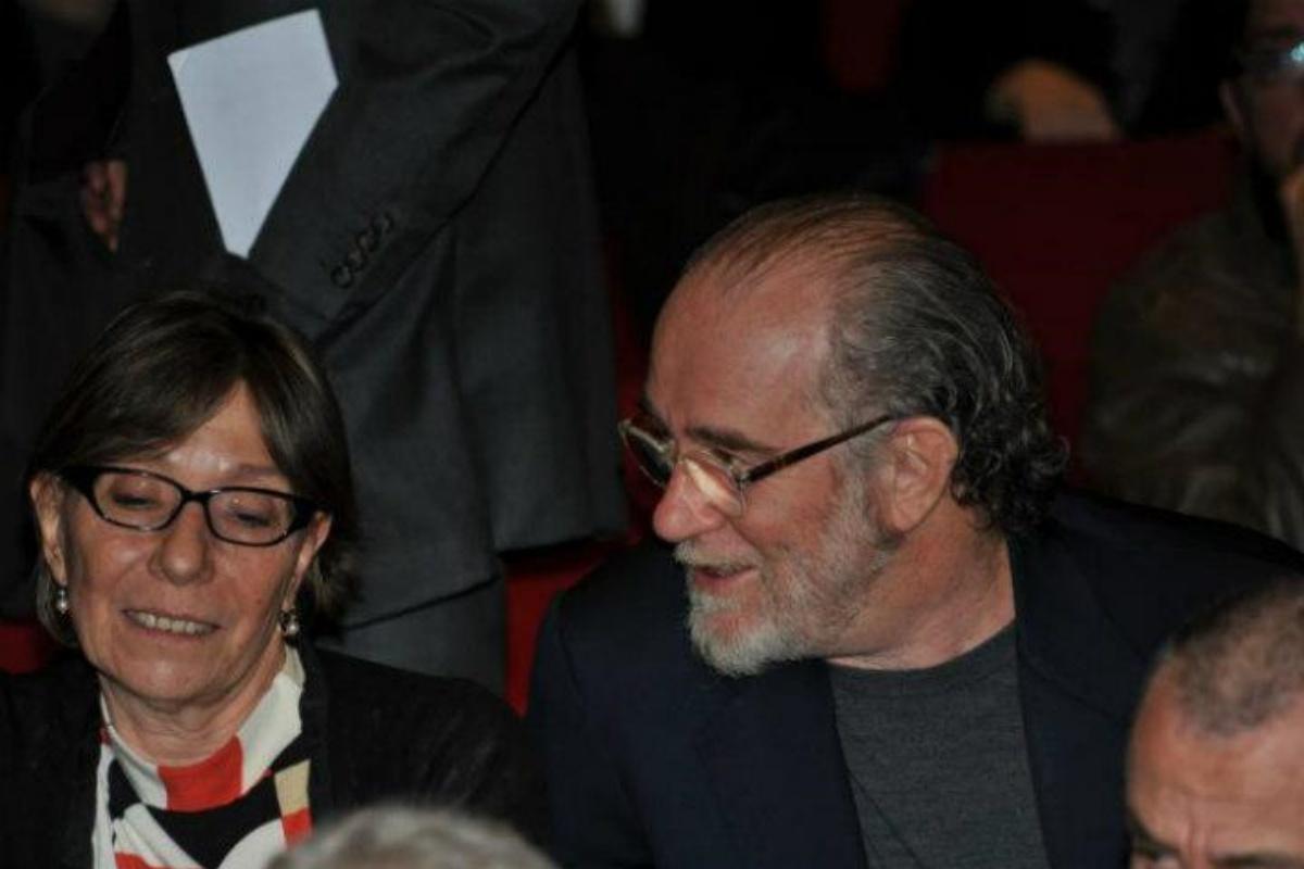 Francesca Gobbi e il marito