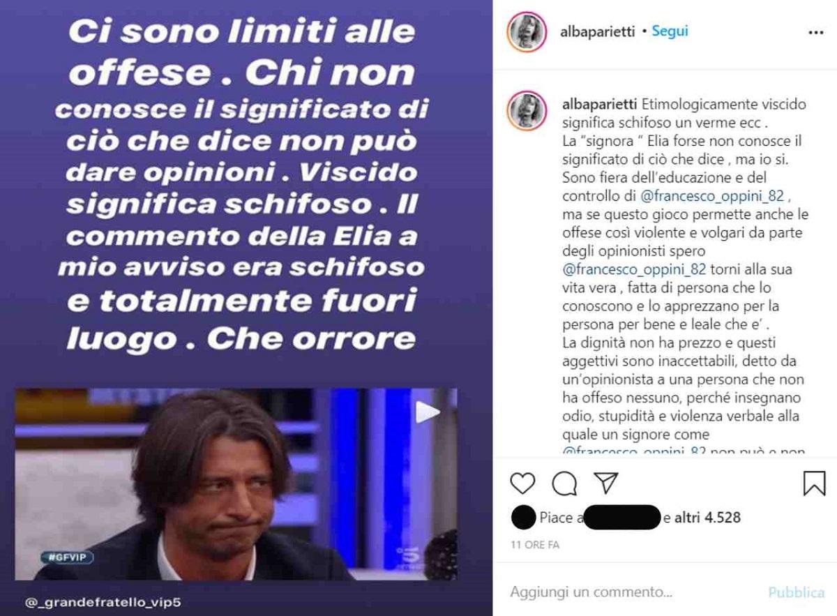 GF Vip Antonella Elia contro Alba Parietti