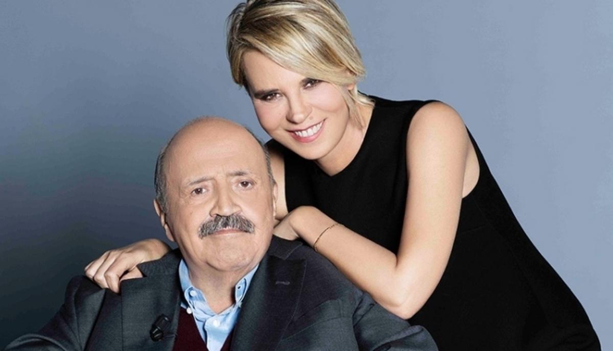 Maurizio Costanzo e la moglie