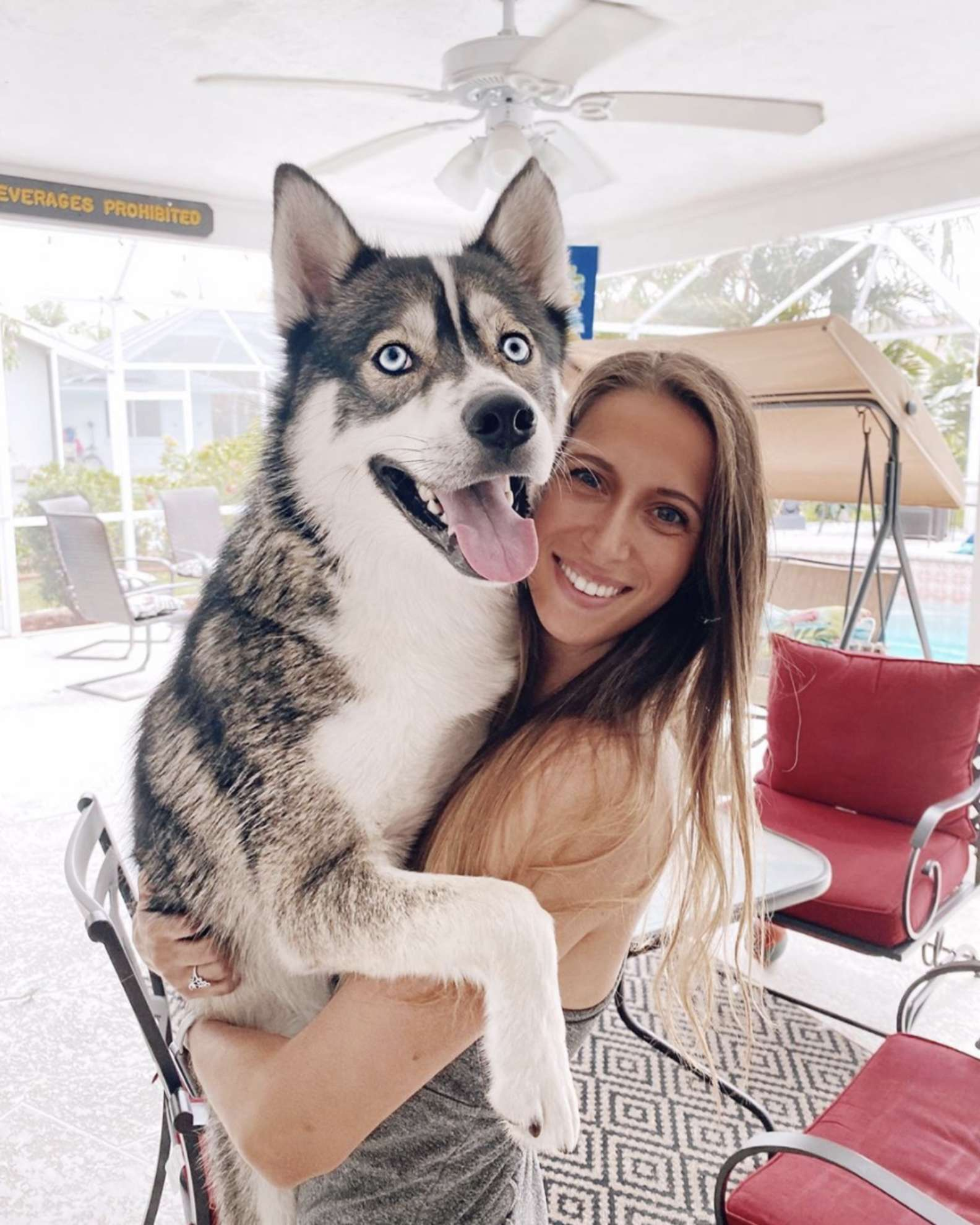 Emma Klapper e l'husky Blue