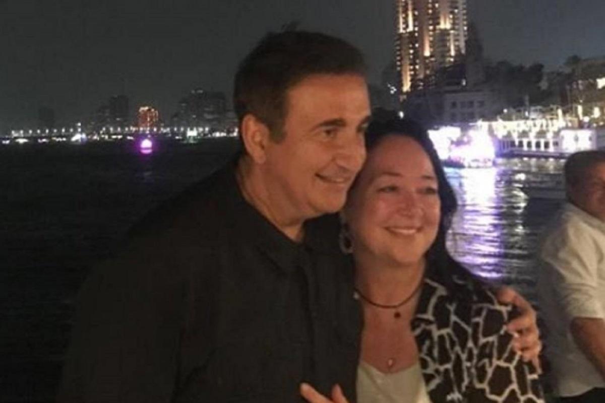 Roberto Giacobbo e la moglie