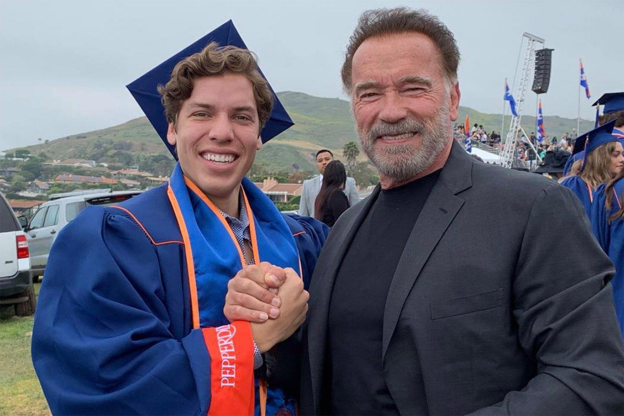 Arnold Schwarzenegger e il figlio