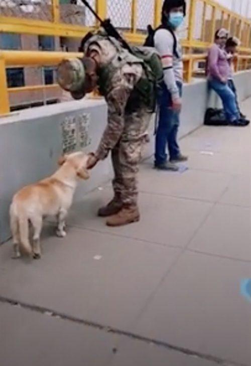 Militari durante il turno di guardia