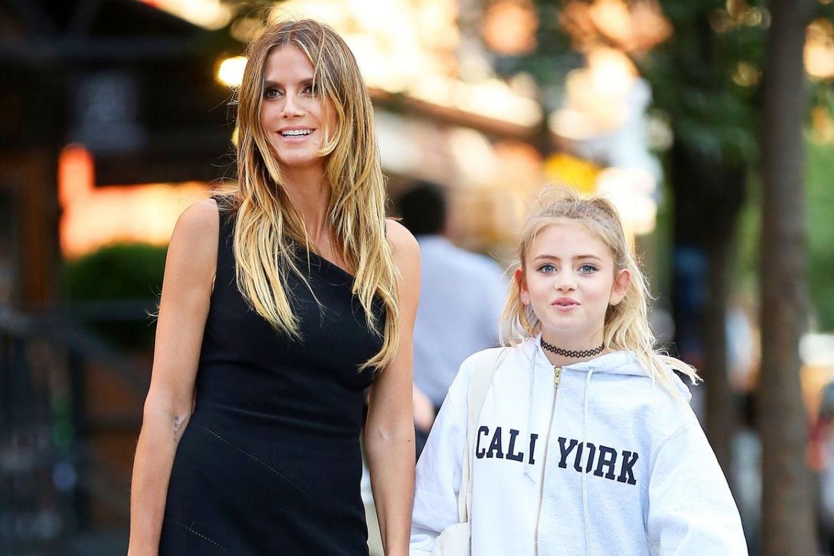 Heidi Klum e la figlia
