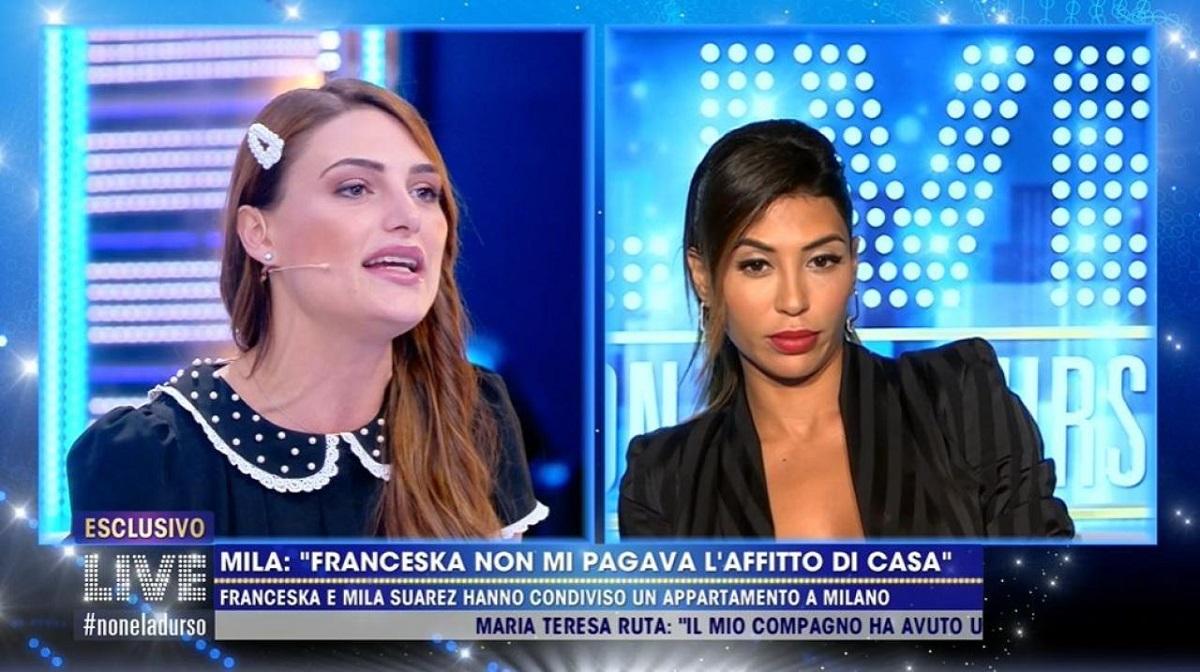"""Live non è la D'Urso: Mila Suarez accusa Franceska Pepe: """"Non ha mai pagato"""""""