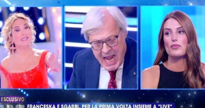 Live non è la D'Urso Sgarbi contro Franceska