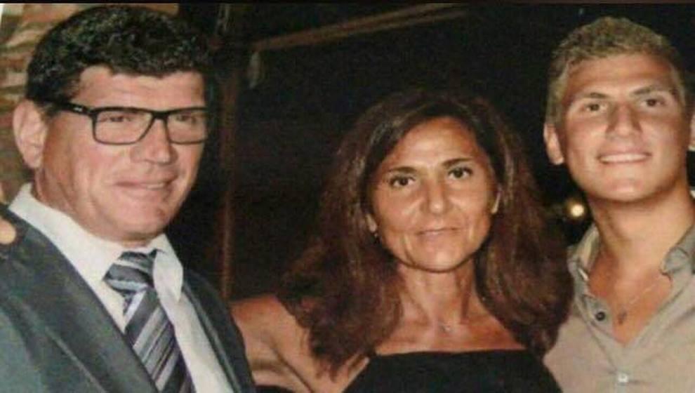 Marina Conte e Valerio Vannini con il figlio