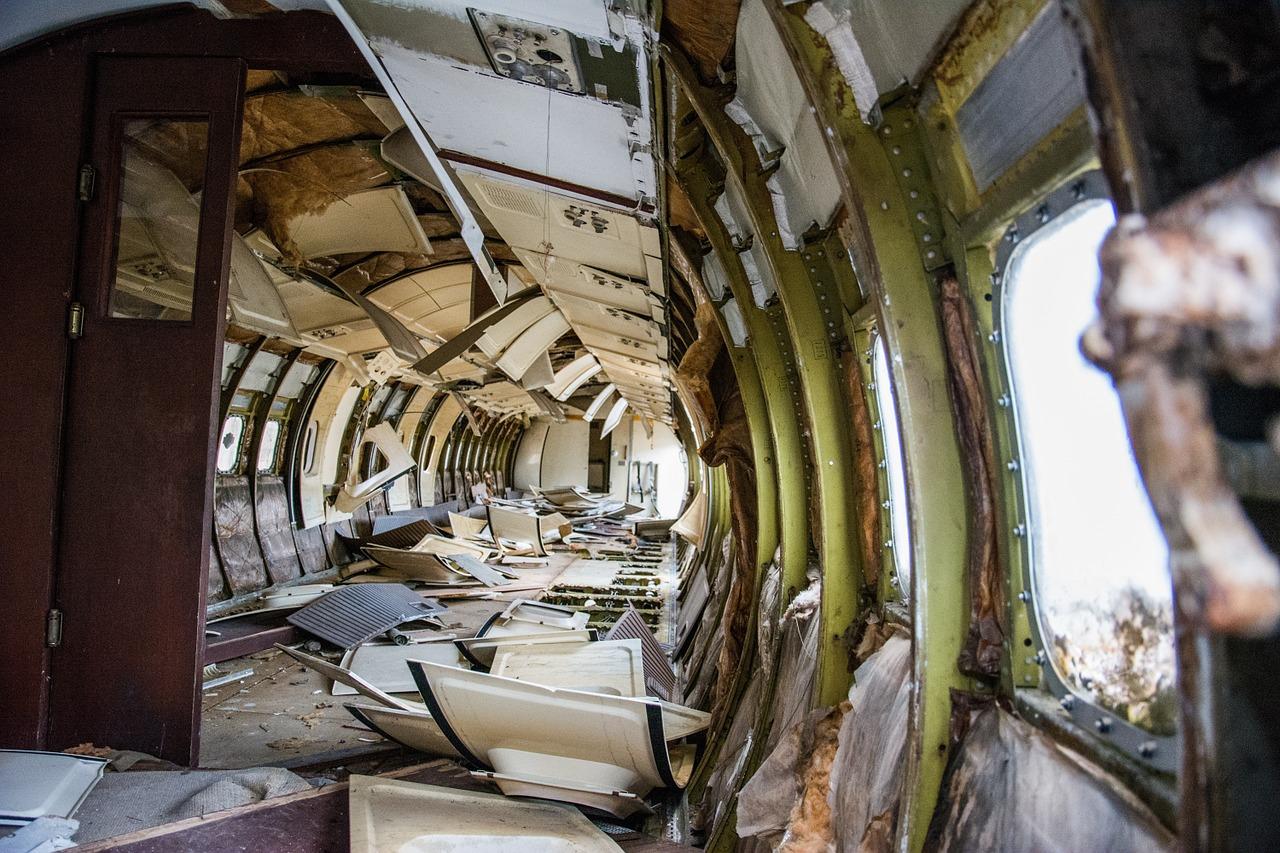 Il  disastro a bordo di un aereo