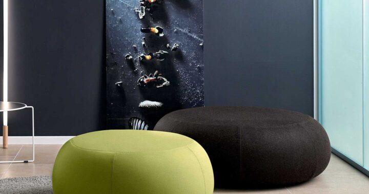 Pouf in soggiorno: le scelte di design da fare per essere sempre alla moda