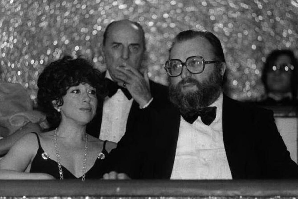 Sergio Leone e la moglie