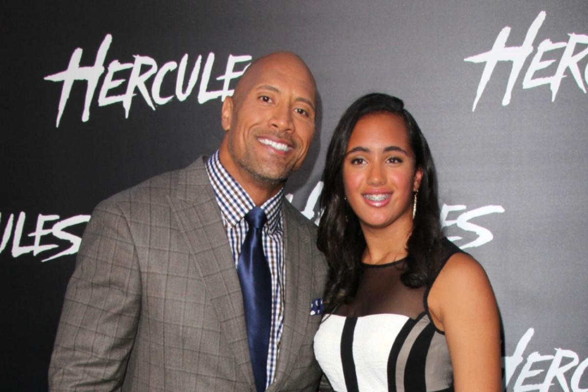The Rock e la figlia