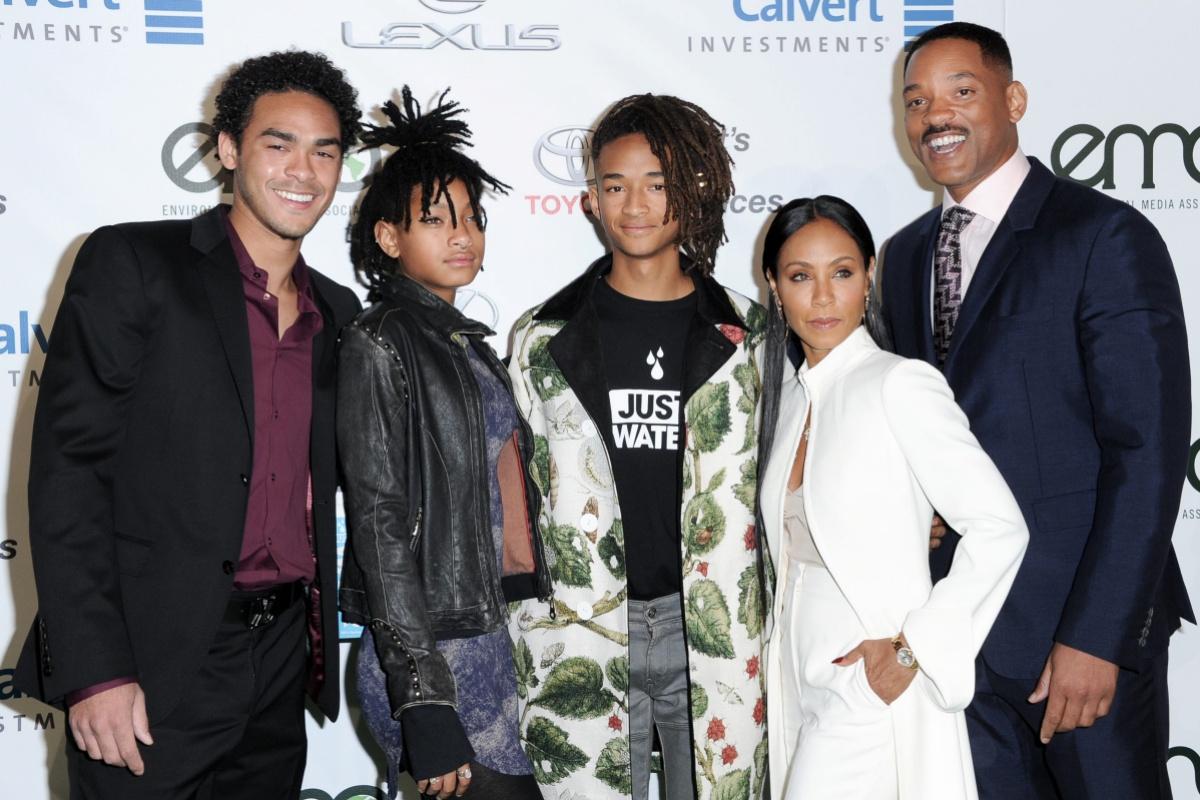 Will Smith e i figli e la moglie