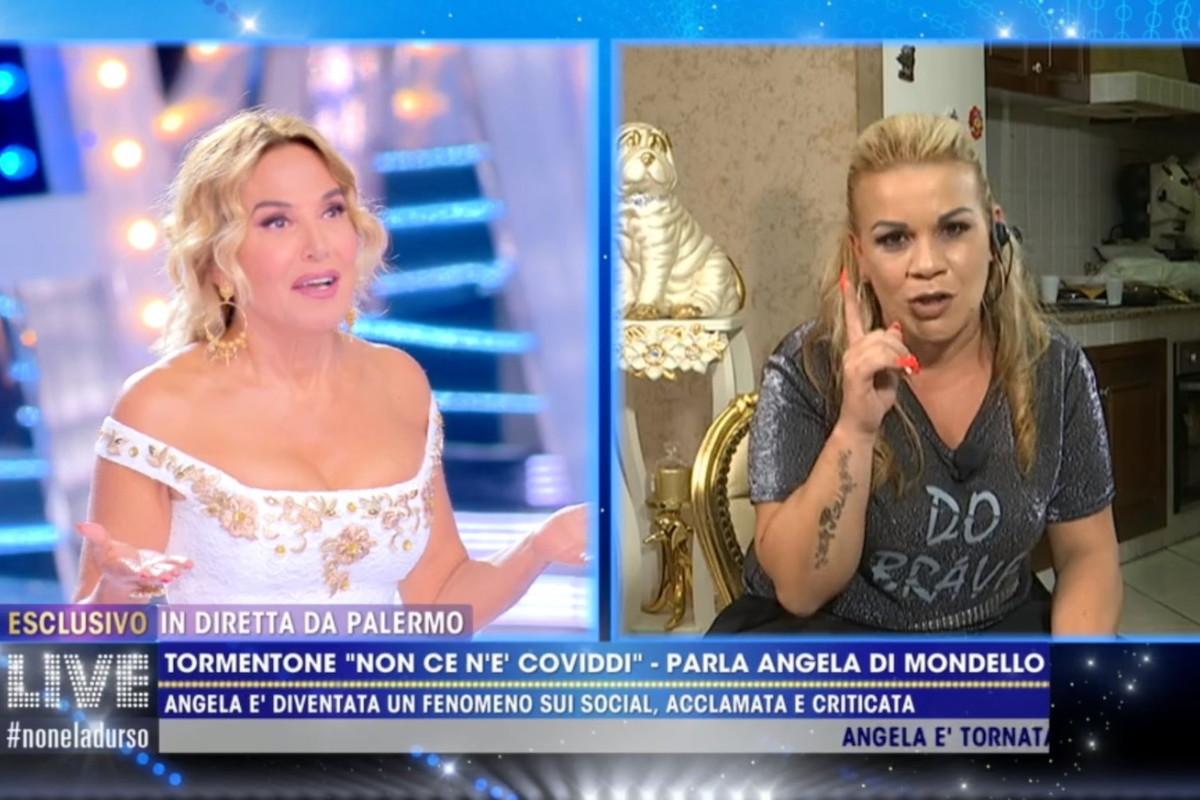 Angela di Mondello da Barbara d'Urso