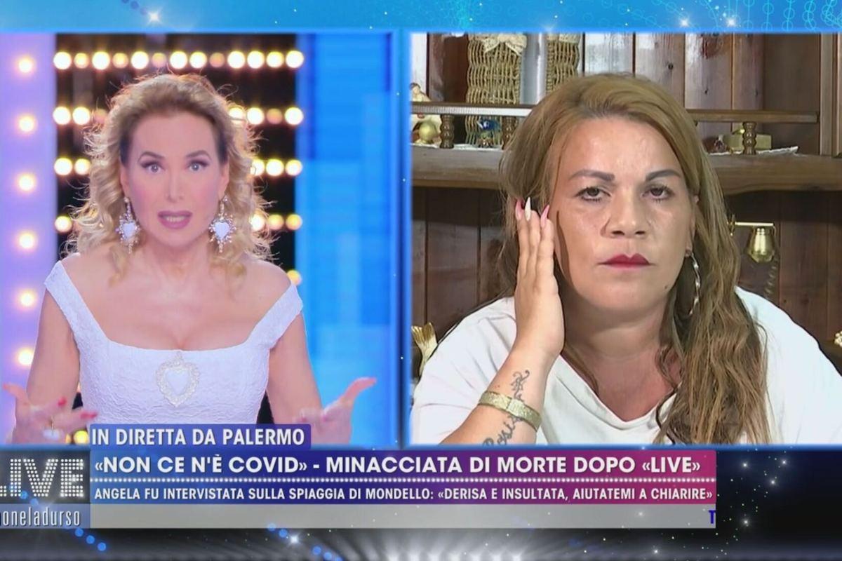 Angela di Mondello a Live - Non è la D'Urso