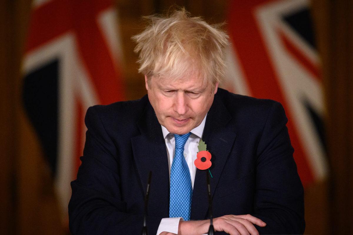 Boris Johnson tiene un discorso