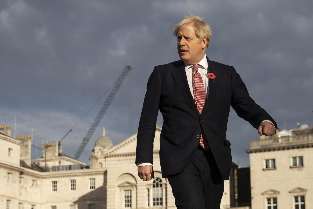 Boris Johnson passeggia