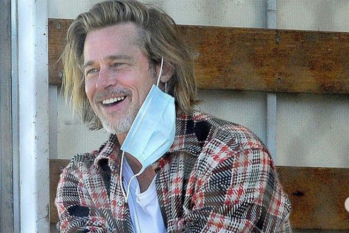 Brad Pitt senza la mascherina