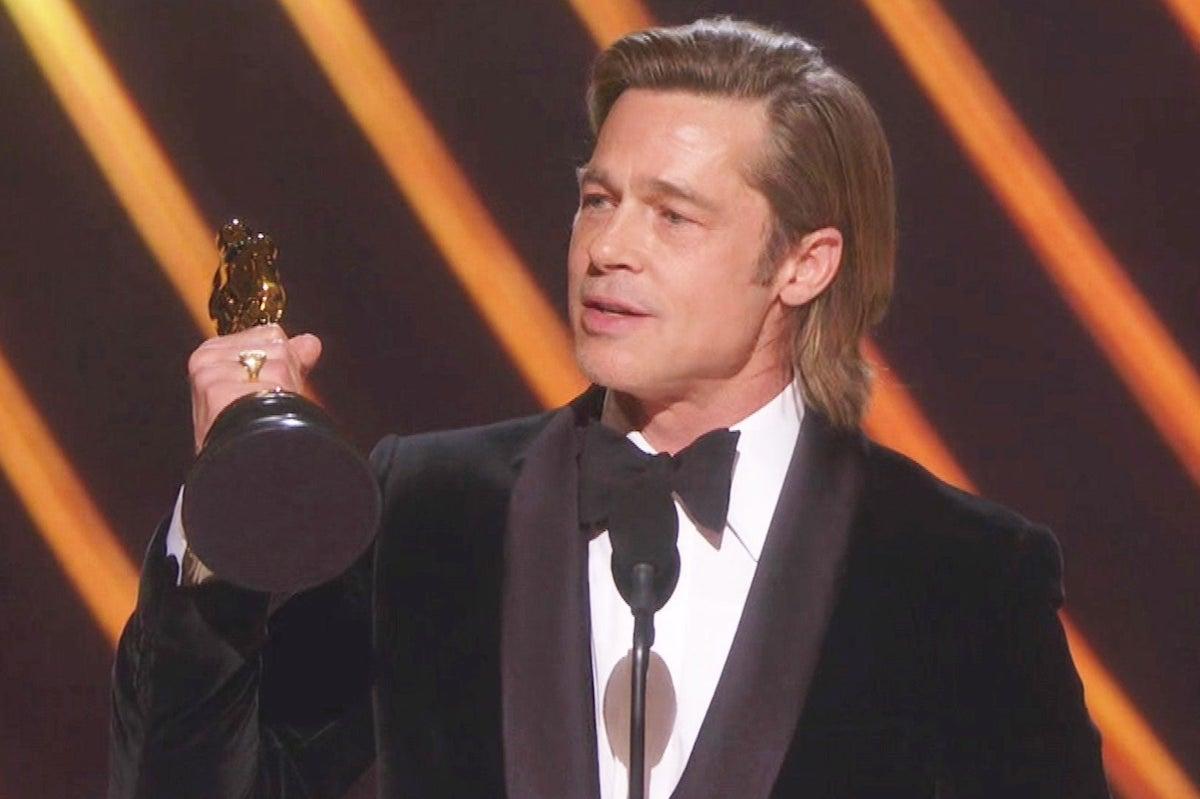 Brad Pitt ritira il premio Oscar