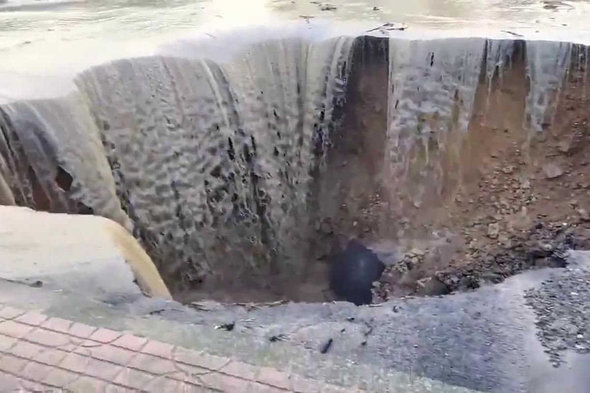 Pioggia scosciante a Crotone