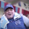 Diego Maradona in tribuna