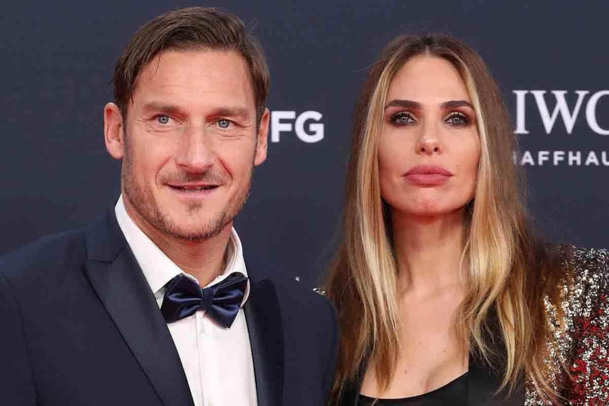 Francesco Totti e Ilary Blasi ad un evento