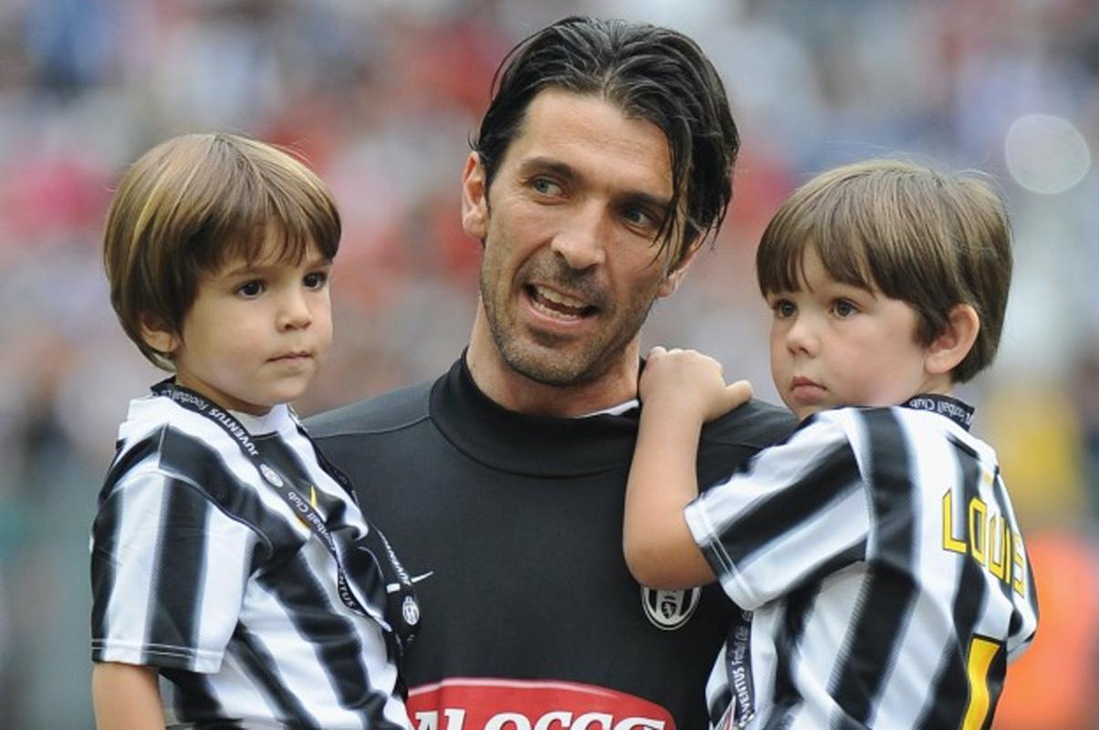 Gigi Buffon con i figli