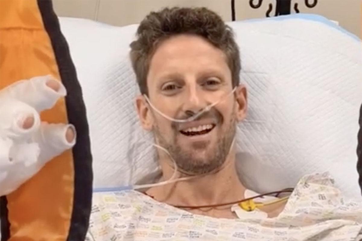 Grosjean ricoverato in ospedale
