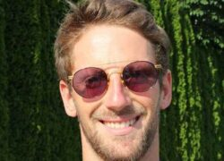 Grosjean che sorride