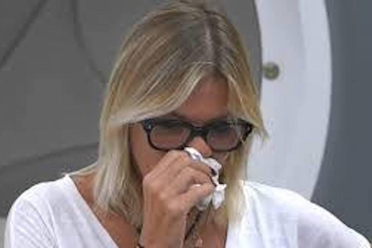 Matilde Brandi piange