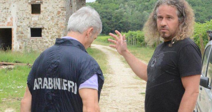 Paolo Calligaris con un carabiniere