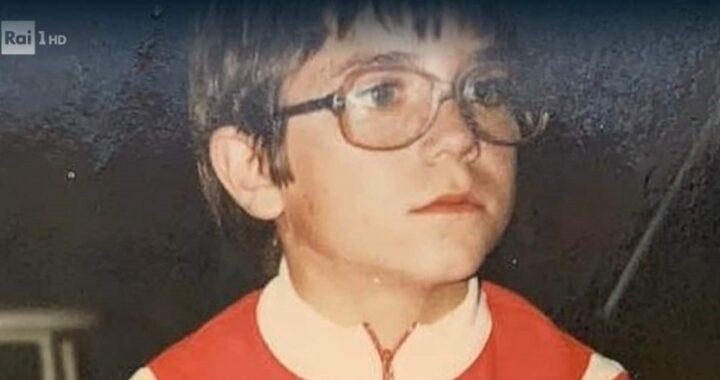 Paolo Conticini e la foto da bambino
