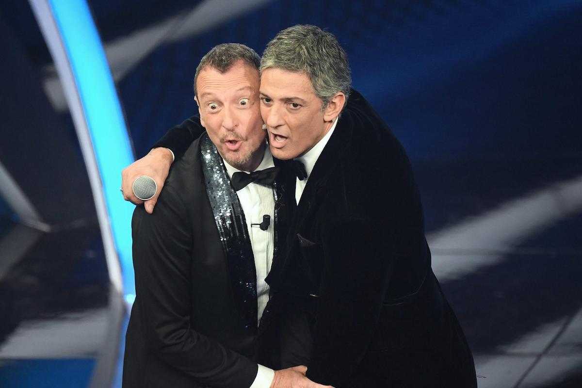 Fiorello e Amadeus al Festival di Sanremo 2020