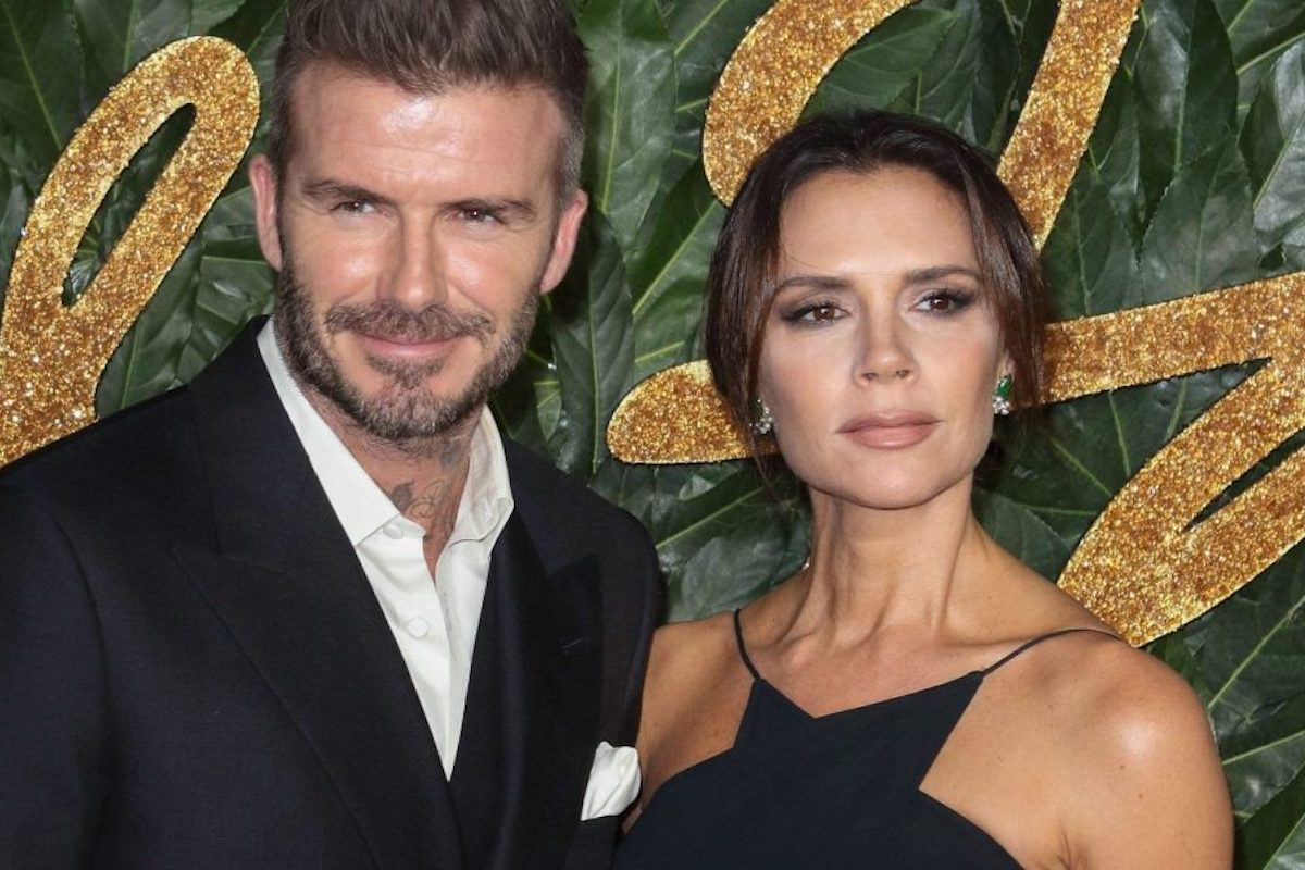David Beckham con la moglie