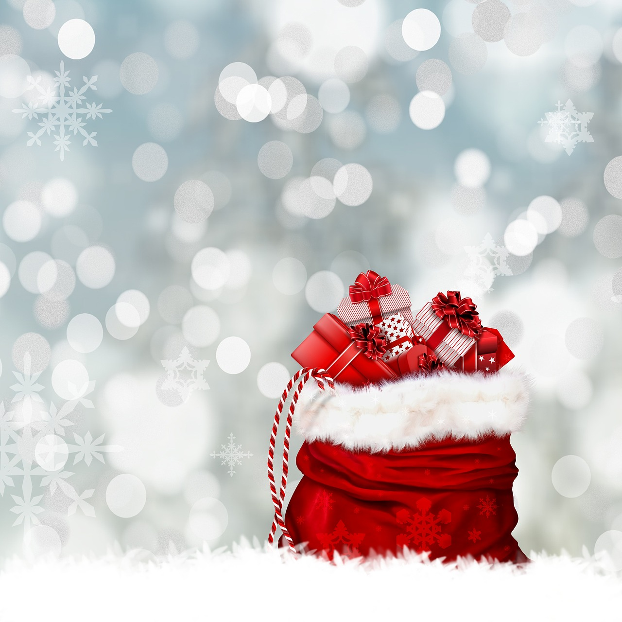 Il sacco pieno di regali natalizi