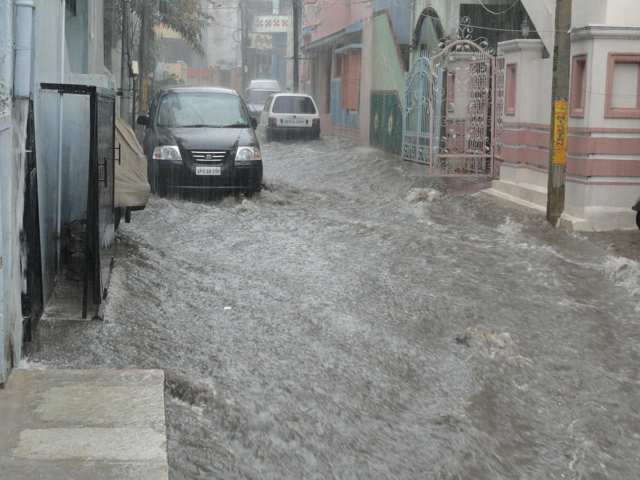 Bomba d'acqua e alluvione
