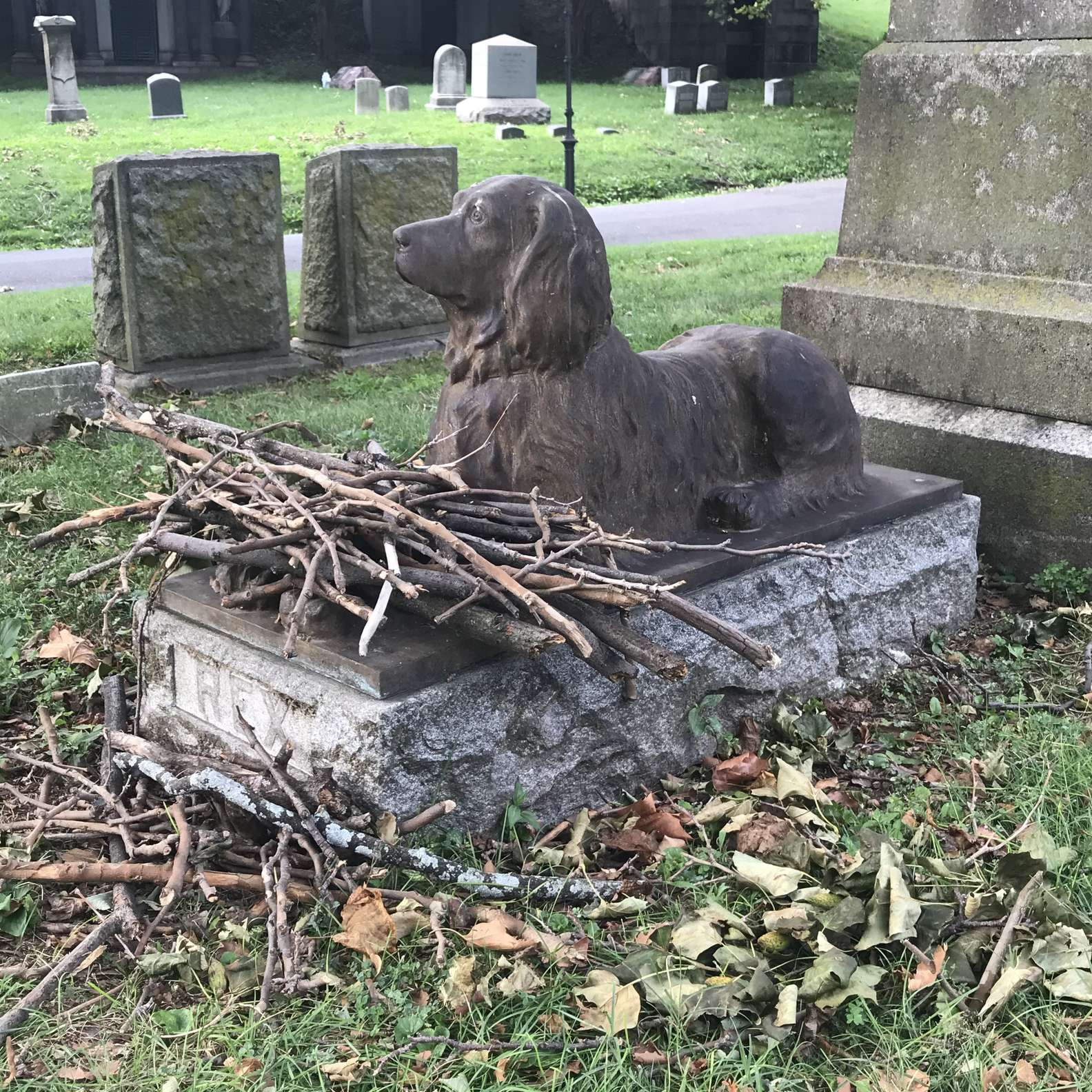 Rex sulla tomba di John E. Stow