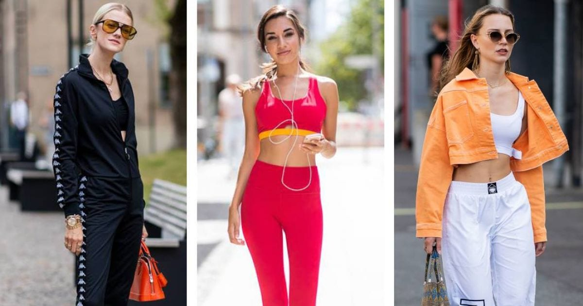 sporty chic e glam look
