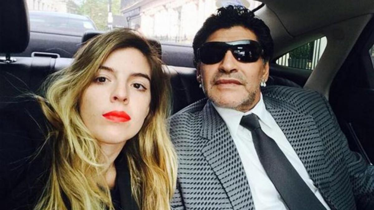 Diego Armando Maradona e la figlia