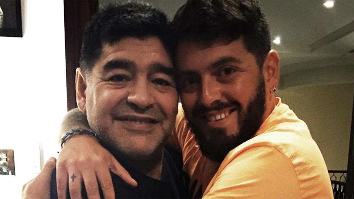 Diego Armando Maradona e il figlio