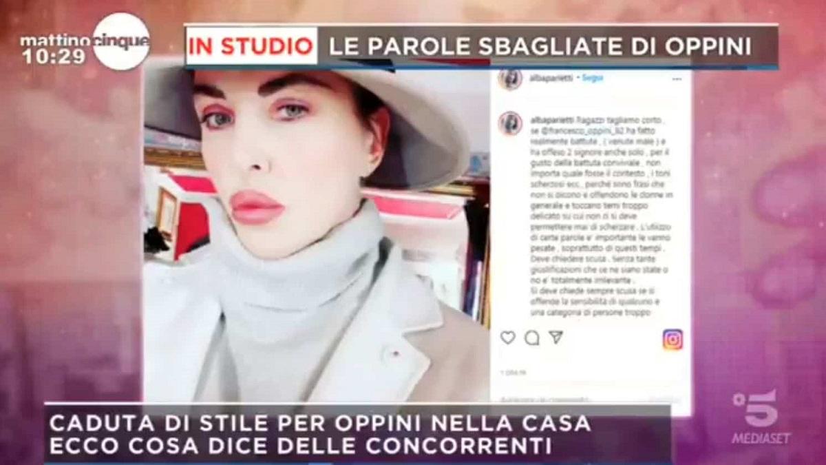 GF Vip Alba Parietti richiede la squalifica del figlio