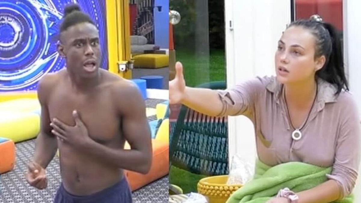 GF Vip Enock si scontra con Adua