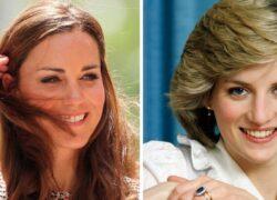 Kate Middleton e Lady D frangia
