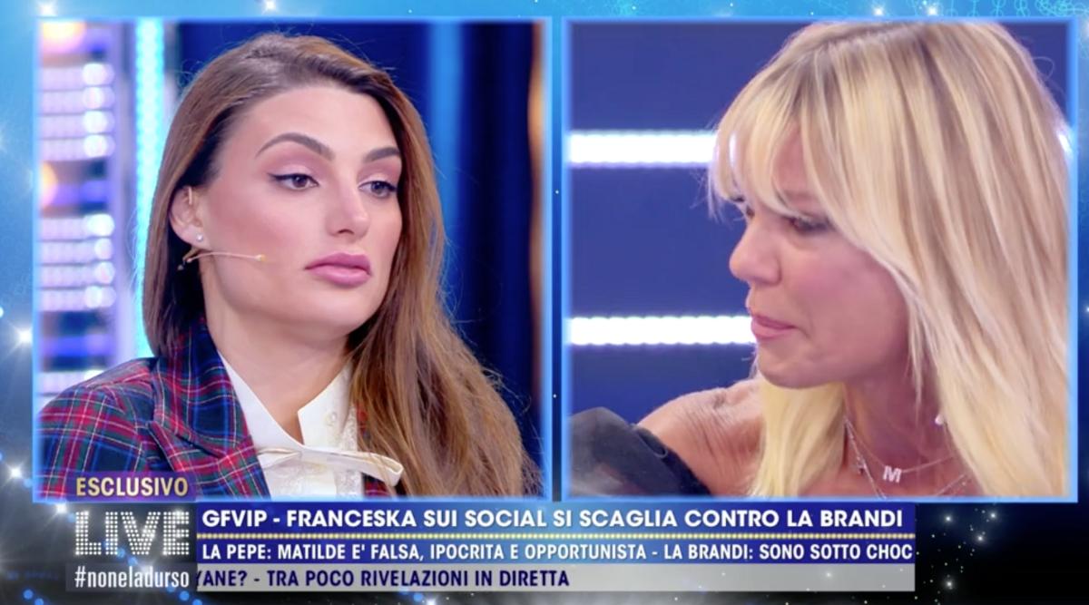 Matilde Brandi in lacrime Franceska Pepe senza pietà