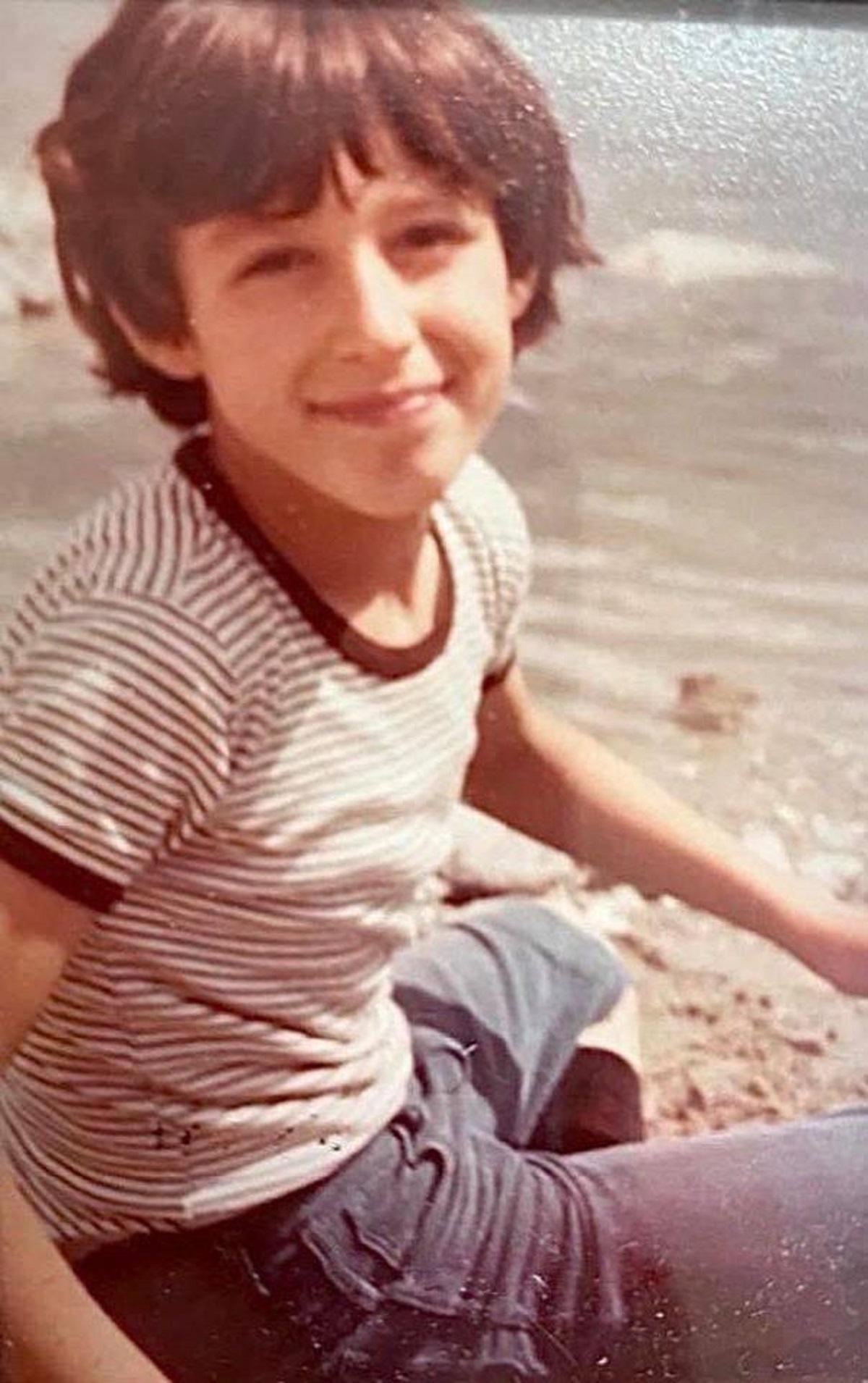 Matteo Salvini bambino