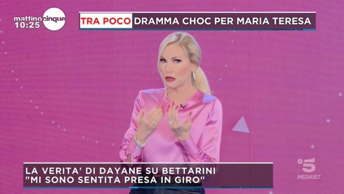 Mattino 5 Antonella Mosetti attacca Stefano Bettarini