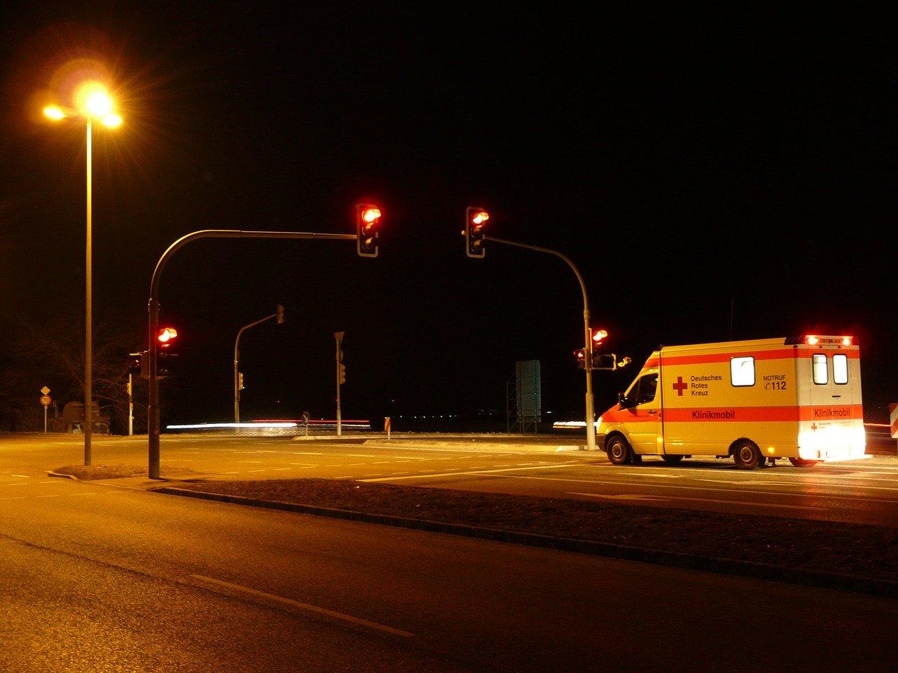 Soccorritori in ambulanza